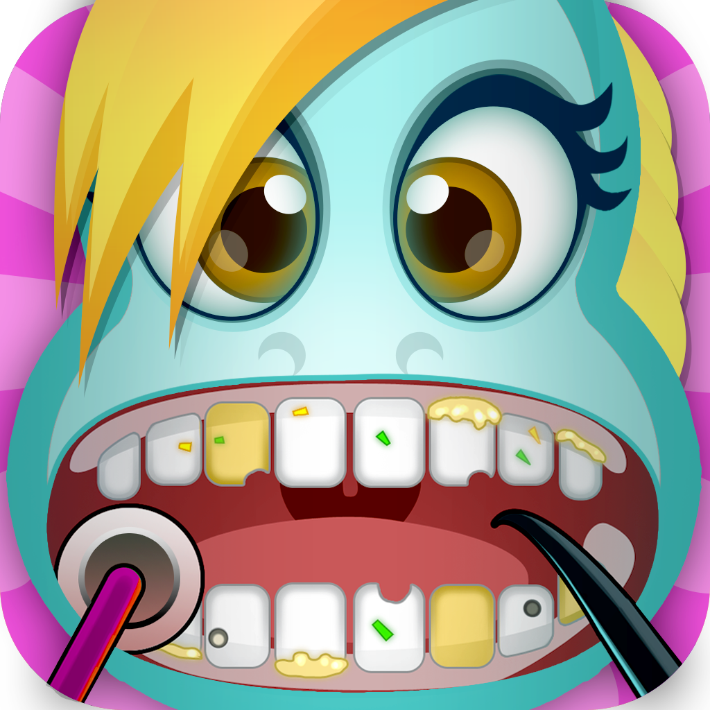 A Little Pony Magic Bubble-Gum Friendship Make-Over Dentist Game